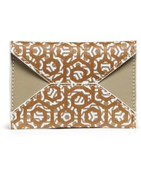 Mischa | Hexagon Print Coated Canvas Envelope Cardholder | Lyst