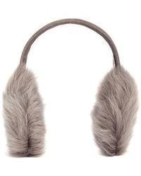Karl Donoghue Mesh Embossed Toscana Lambskin Shearling Ear Muffs - Natural