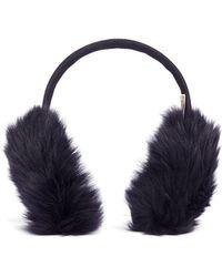 Karl Donoghue Mesh Embossed Toscana Lambskin Shearling Ear Muffs - Multicolor