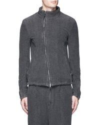 The Viridi-anne Textured Cotton Zip Jacket - Gray