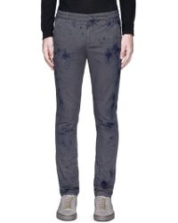 1.61 - 'b.e.' Slim Fit Stained Effect Pants - Lyst
