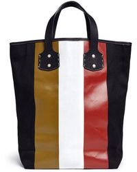 Ghurka - 'broadway' Stripe Print Tote Bag - Lyst