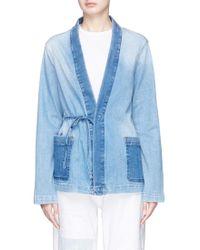 Denham - Washed Active Denim Kimono Jacket - Lyst