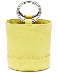 Simon Miller 'bonsai 15' Metal Ring Handle Leather Bucket Bag - Green