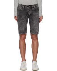 Denham 'razor' Washed Denim Shorts - Black