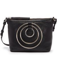Kara - Multi Ring Leather Crossbody Bag - Lyst