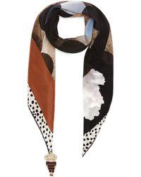 Rumisu Ruby Slippers Silk Scialle Scarf Women Accessories Scarves & Wraps Ruby Slippers Silk Scialle Scarf - Brown