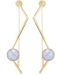 OLIVIA YAO - 'fliegt' Lace Agate Magnet Angular Bar Earrings - Lyst
