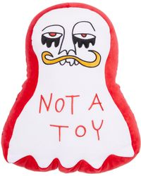 Haculla Graphic-print Soft Toy 45cm X 35cm - Red