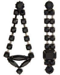 Joomi Lim - Glass Crystal Mismatched Drop Earrings - Lyst