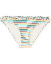 Solid & Striped - 'the Milly' Ruffle Stripe Seersucker Bikini Bottoms - Lyst