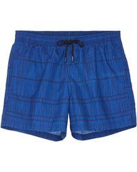 Danward 'Capri' bamboo stripe swim shorts - Azul