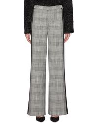 Alice + Olivia - 'paulette' Stripe Outseam Houndstooth Wide Leg Tuxedo Trousers - Lyst