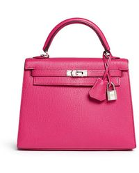 Hermès Hermès 20cm Rose Sakura Epsom Leather Mini Kelly Ii - Pink