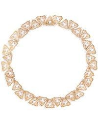 Buccellati Diamond 18k Gold Openwork Necklace - Metallic