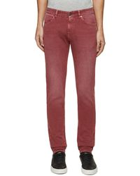 PT Torino Swing' Stretch Skinny Jeans Men Clothing Jeans Swing' Stretch Skinny Jeans - Red