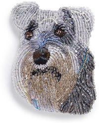 Mignonne Gavigan - Beaded Dog Brooch – Schnauzer - Lyst