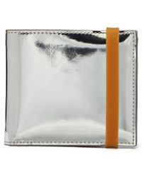 Helmut Lang Rubber Band Mirror Leather Bifold Wallet - Multicolor