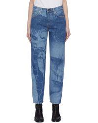 Acne Studios Magazine Punk Graphic Print Jeans - Blue