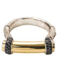 John Hardy - Spinel 18k Yellow Gold And Silver Bamboo Ring - Lyst