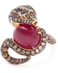 Stephen Webster - 'snake' Diamond Ruby 18k Rose Gold Ring - Lyst