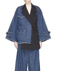 The Keiji Detachable Gilet Denim Jacket - Blue