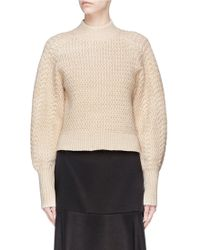 C/meo Collective | 'city Lights' Metallic Chunky Knit Sweater | Lyst