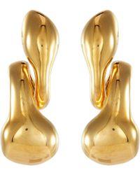 MISHO Pebble' Gold Plated Airpod Earrings Women Accessories Fashion Jewelry Earrings Pebble' Gold Plated Airpod Earrings - Metallic