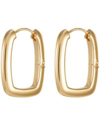 Ivi 'toy' Link Hoop Earrings - Metallic