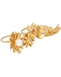 Alex Monroe - 'woodland Garden' Floral Knuckle Ring - Lyst