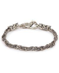 Emanuele Bicocchi - Multi Braided Chain Silver Bracelet - Lyst