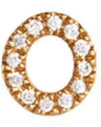 Loquet London - 'o' Diamond 18k Yellow Gold Charm – Give A Hug - Lyst