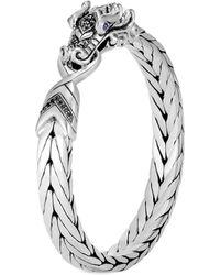 John Hardy - 'legends Naga' Sapphire Spinel Silver Medium Bangle - Lyst