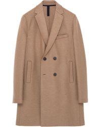 Harris Wharf London - Virgin Wool Melton Double Breasted Coat - Lyst