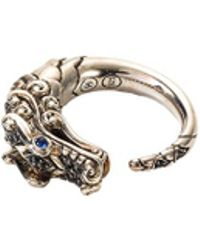John Hardy - Sapphire Spinel 18k Yellow Gold And Silver Naga Ring - Lyst