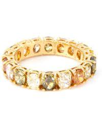 LC COLLECTION Diamond 18k Yellow Gold Ring - Metallic