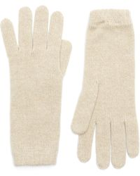 Johnstons Short Cuff Cashmere Gloves - Natural