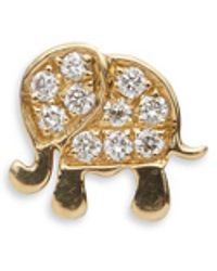 Loquet London - Diamond 18k Yellow Gold Elephant Charm - Happiness - Lyst
