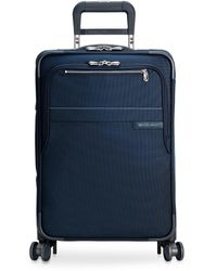 Briggs & Riley - Baseline Carry-on Expandable Spinner Suitcase – Navy - Lyst