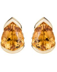 Fernando Jorge - 'bloom' Diamond Topaz 18k Gold Large Stud Earrings - Lyst