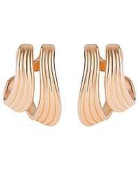Fernando Jorge - 'stream Lines' 18k Rose Gold Double Hoop Earrings - Lyst