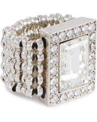 Philippe Audibert 'elea' Swarovski Crystal Rhinestone Ring - Metallic
