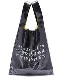 Maison Margiela Pvc Coated Leather Tote Bag - Black