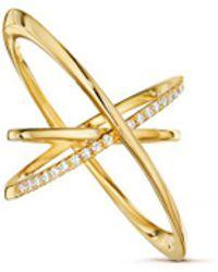 Lynn Ban - 'pavé Orbit' Diamond 14k Gold Ring - Lyst