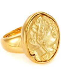 Kenneth Jay Lane Coin Centred Ring - Metallic