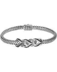 John Hardy - 'asli Classic Chain' Sapphire Spinel Silver Extra Small Bracelet - Lyst