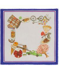 Cjw - 'brooklyn Mini' Graphic Print Wool Scarf - Lyst