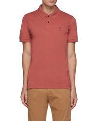 Denham Regency' Patch Logo Cotton Blend Polo Shirt - Red