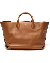 Khaite Amelia' Envelop Pleat Medium Tote Bag - Brown