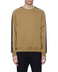 3.1 Phillip Lim - Satin Stripe Sleeve Sweatshirt - Lyst
